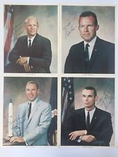4 Signed NASA Astronaut 8X10 Photographs Buzz Aldrin Gordon Cooper Apollo 11 SP