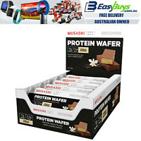 12x Musashi PRO High Protein Bars 40g Vanilla Chocolate Wafer Bar Low Carb Diet