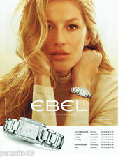 PUBLICITE ADVERTISING 115  2009  Ebel la montre Brasilia avec Gisèle Bunchen