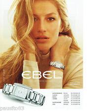 PUBLICITE ADVERTISING 115  2009  Ebel la montre Brasilia avec Gisèle Bunchen