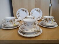 Vintage Colclough Bone China trio set - Cup, Saucer & Plate Made In England