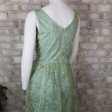 Marina Womens Dress Sze 12 Green Lime Laces Tulip A-Line Princes Dress USA Made