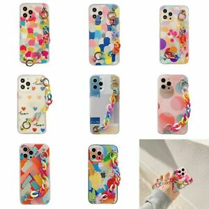 Colorful Chain Wristband Phone Case Cover For iPhone 12mini 11 Pro XS Max XR 8+