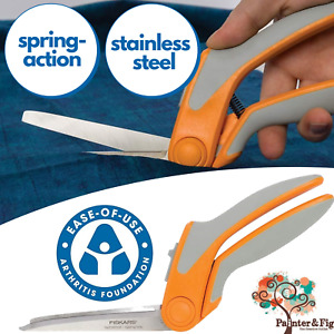 "Fiskars Easy-Action Scissors - RazorEdge Tabletop Cutting 8"" or 9"" Arthritis"