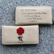 Harry Potter School Hogwarts Letter Wallet Envelope Zip Clutch Owl Purse Bags