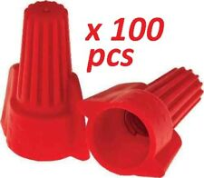 WIRE CONNECTORS RED WINGED SCREW-ON NUTS UL 100 / PACK -FAST 3 day shipping USPS