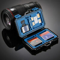 Memory Card Case Water-Resistant Anti-shock Holder Storage SD SDHC SDXC TF