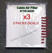 x3 C35667 C25851 Cabin Air Filter for many TOYOTA LEXUS SUBARU CF10285 CAF1816