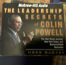 4 cd set Leadership secrets of Colin Powell Police Military and or business