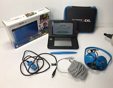 Nintendo 3DS XL Blue - Complete with 2 Chargers, Case, Headphones, Box, Works Ok