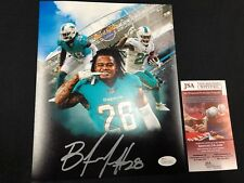 BOBBY McCAIN MIAMI DOLPHINS SIGNED 8X10 PHOTO JSA WITNESS COA WPP137452 FREE S&H