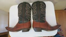 Nocona Men's Boots Brown Lizard  Black Leather 10 D  style 1524