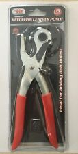 "9"" REVOLVING LEATHER HOLE PUNCH TOOL (6 SIZED) - BELT HOLES HAND PLIERS"