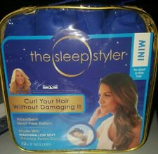 NIB The Sleep Styler Mini Soft Rollers For Short or Fine Hair  Memory Foam