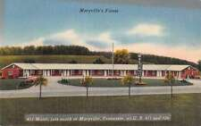 Maryville Tennessee 411 Motel Linen Antique Postcard J55820