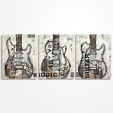 Original abstract guitar painting on canvas, Large Music artwork - MADE TO ORDER
