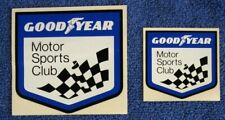 Goodyear Motor Sports Club STICKER (2) SET. 1975. Auto Racing. Indy. Decal.