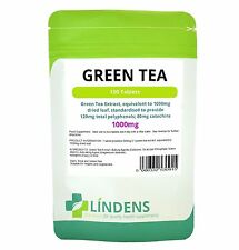 LINDENS GREEN TEA EXTRACT 100 x 1000MG. VEGETARIAN TABLETS WEIGHT LOSS DIET