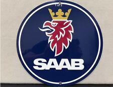 Saab  Vintage Logo Reproduction Garage Sign