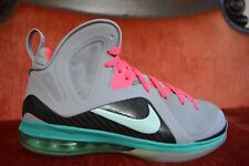 VNDS CLEAN NIKE LEBRON IX 9 P.S. ELITE SOUTH BEACH MIAMI WOLF GREY MINT PINK 8