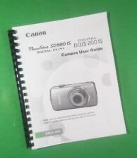 """Laser 8.5X11"""" Canon SD980IS IXUS 200IS Power Shot Camera 170 Page Owners Manual"""