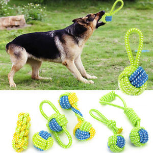 Dog Toy Chews Cotton Rope Knot Ball Grinding Teeth Odontoprisis Pet Toy Large