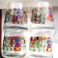 Rare Vintage Set of 4 Signed Kristallglas Mundgeblasen Mugs / Cups Germany