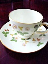 Wedgwood England Wild Strowberry Cup & Saucer Vintage