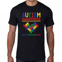 Autism Awareness Day T-Shirt,Accept Understand Love Disability Puzzle Heart Gift