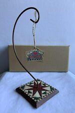Jim Shore Heartwood Creek for Enesco Square Quilt Ornament Holder Item #105184