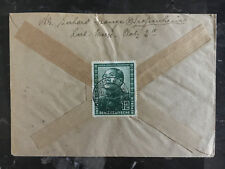 1951 East Germany DDR Cover to Saar Mao Tse Tung # 82 85-88
