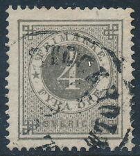 Sweden Scott 18/Facit 18, 4ö gray Ringtyp perf 14, VF sound Used, CV $135.00
