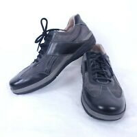 Rockport Mens US 13 Black Gray Suede Leather Lace Up Casual Sneaker Shoes