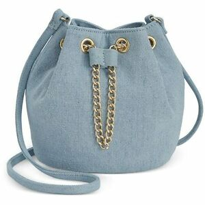 Inc International Concepts Pia Mini Bucket Bag Chambray Denim One Size J