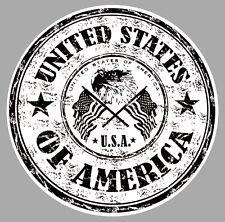 USA AIGLE STARS AND STRIPES BADGE LOGO TAMPON 15cm AUTOCOLLANT STICKER  UA029
