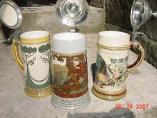 New Listing5 German Stein Set - 3 Mettlach Steins, 2 Other