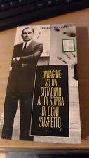 VHS - INDAGINE SU UN CITTADINO AL DI SOPRA DI OGNI SOSPETTO - L'UNITà E RICORDI