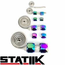 NEO CHROME STAINLESS STEEL ENGINE HOSE DRESS UP KIT FOR VACUUM/FUEL/OIL S2