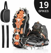 Ice Snow Grips, Universal Anti-slip Traction Cleats Crampons. Hiking Climbing XL