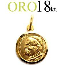 medaglia ciondolo regalo papa GIOVANNI PAOLO II oro 18kt. 750/1000 gold 18kt.