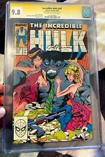 "INCREDIBLE HULK #347 CGC 9.8 Signed & Sketch - 1st App. of HULK as ""JOE FIXIT"" &"