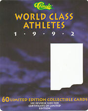 1992 CLASSIC WORLD CLASS ATHLETES 60 card LIMITED EDITION SET #234155