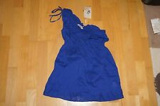 Damen Top Bluse Shirt Blau BSK M Bershka reine Baumwolle NEU
