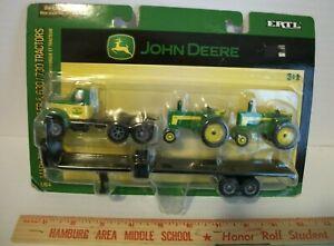 Ertl John Deere Mack Truck w/ Trailer & 630 & 730 Tractors, 1/64th Scale 15806