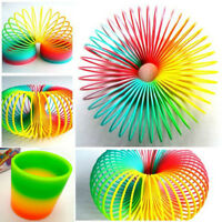 Lovely Colorful Rainbow Plastic Magic Slinky Children Classic Development Toy CN