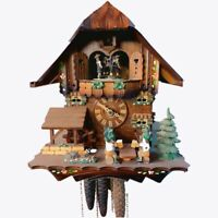 Cuckoo Clock Tree House Swing Wall Hanging Wooden Décor Timepiece Watch WC 013