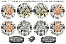 RDX LED CLEAR 8 Lamp/lights Side Repeaters Defender 1998 to 2016 Td5/Tdci S