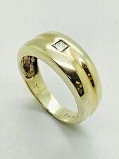 9ct Yellow Solid Gold Diamond Wedding Ring / Band