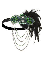 Gatsby Headband  Vintage 1920s Flapper Dress 20s Headpiece Bracelet Ring Handbag