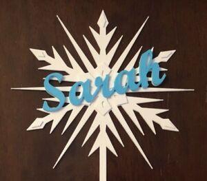 Frozen Snowflake Elsa Cake Topper Personalized